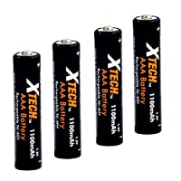 Xtech AAA Ultra High-Capacity 1100mah Ni-MH Rechargeable Batteries (4 pack)