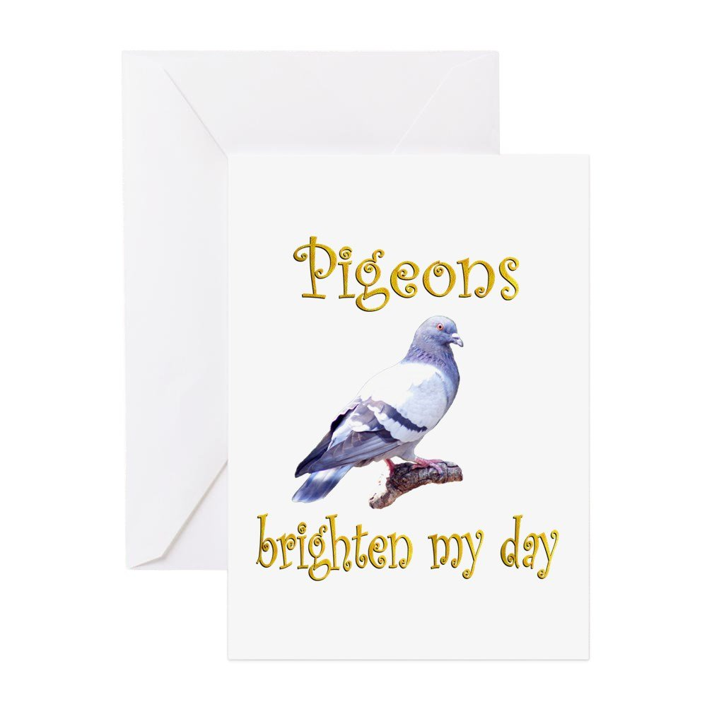 Cafepress Pigeon Greeting Card Note Card Birthday Card Blank