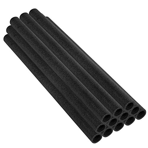 33 Inch Trampoline Pole Foam sleeves, fits for 1.5'' Diameter Pole - Set of 12 -Black by Upper Bounce