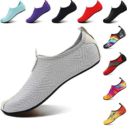 Slip Barefoot Footwear Aqua sport Scarpe da Grigio Yoga dry Uomo Bambino VIFUUR per Slip acquatici Quick on Donna U4vAwq
