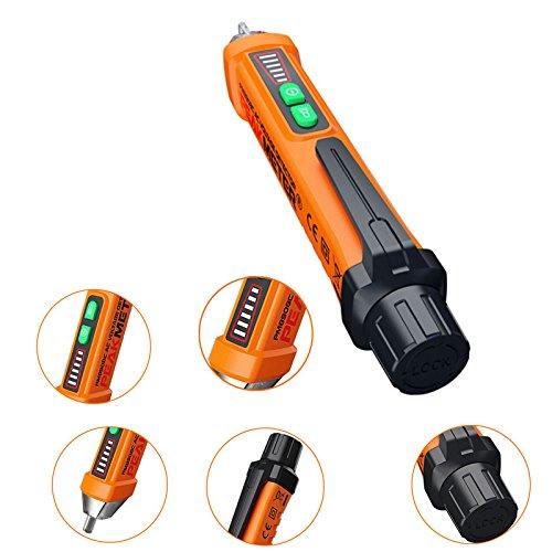 Rokoo Testeur de tension /électrique sans contact de stylo de d/étecteur de tension de contact 12-1000V multim/ètre num/érique avec le mode dalarme