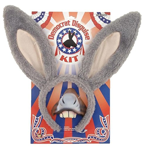 Mememall Democratic Party Donkey Disguise Kit Headband Nose Costume Adult (America Deluxe Pirate Captain Costume)