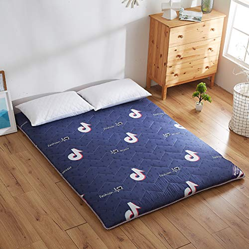 Japanese Futon Thicken Bed Mattress Pad Tatami Floor Mat Folding Soft Comfortable Sponge Cover Protector in One All Seasons-a 90x200x4cm