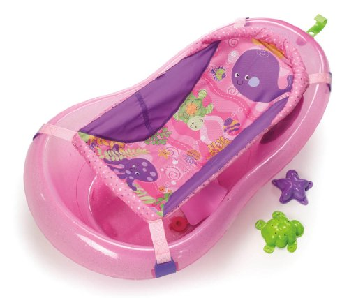 amazoncom fisherprice pink sparkles tub one size baby bathing seats and tubs baby