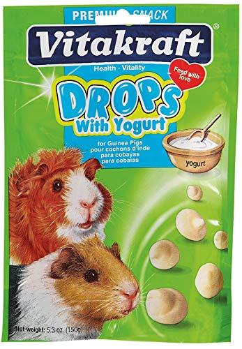 - Vitakraft Guinea Pig Drops With Yogurt Treat, 5.3 Ounce Pouch