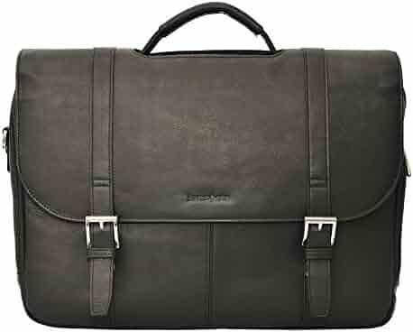 Samsonite Colombian Leather Flapover Case (One Size, Black/Chrome)
