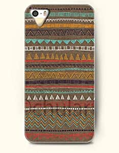 OOFIT Aztec Indian Chevron Zigzag Native American Pattern Hard Case for Apple iPhone 4s ( iPhone 4s Excluded ) ( Brown Tribal Aztec Pattern With Triangle And Chevron )