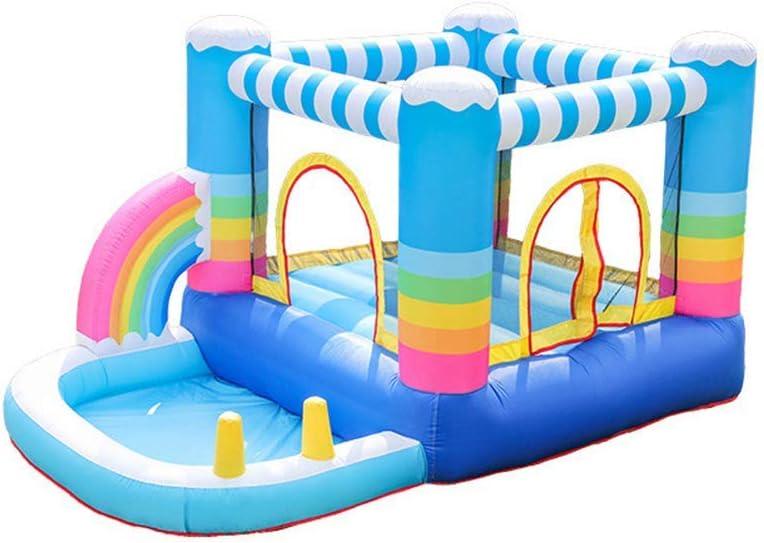 Parque de Atracciones Castillo de Naughty Inflable Castillo Hinchable, for niños Castillo Inflable Interior y Exterior de Salto de Cama abatible Trampolín Trampolín niños zhihao