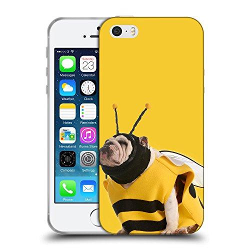 GoGoMobile Coque de Protection TPU Silicone Case pour // Q05650611 Abeille bouledogue giallo banana // Apple iPhone 5 5S 5G SE