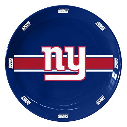 NFL New York Giants Ceramic Serving Plate, 11-Inch, Blue