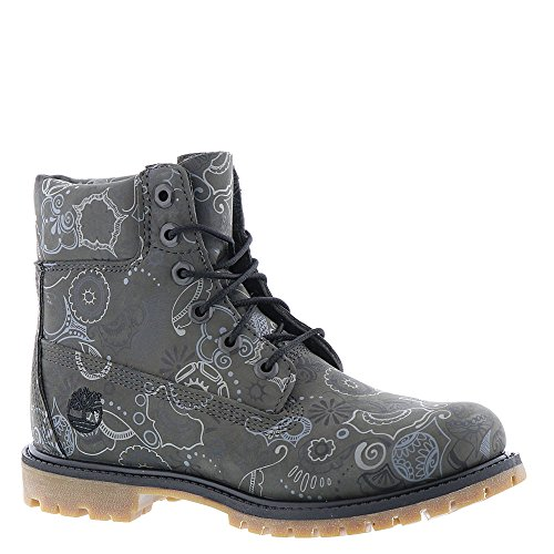 Inch Timberland Dark Prem Boot Grey Women's Icon 6 nubuck qq6xUTSR