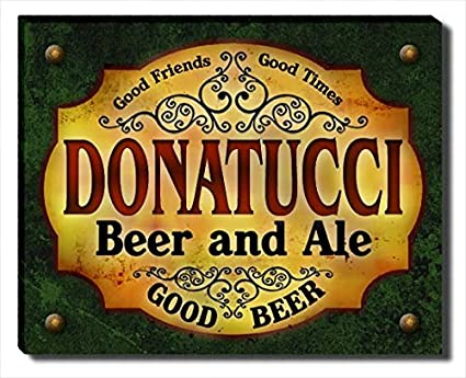 ZuWEE Donatucciu0027s Beer And Ale Gallery Wrapped Canvas Print