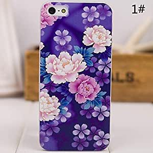 SHOUJIKE China Style Pattern Painting PC Hard Cover for iPhone5/5s ip5zgfch , 1#