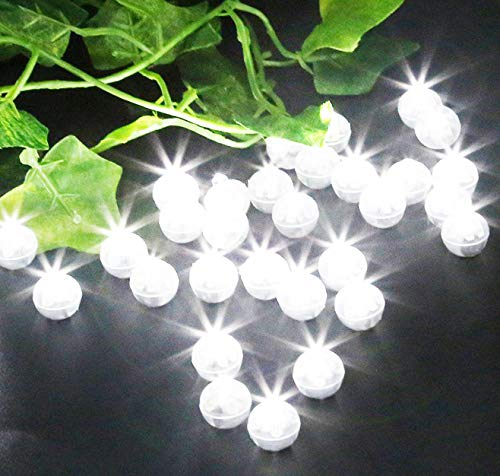 100 Pack LED Standby Balloon Lights White for Weddings,Christmas Decor, Party Decorations,Balloons,Paper Lanterns, Birthdays]()
