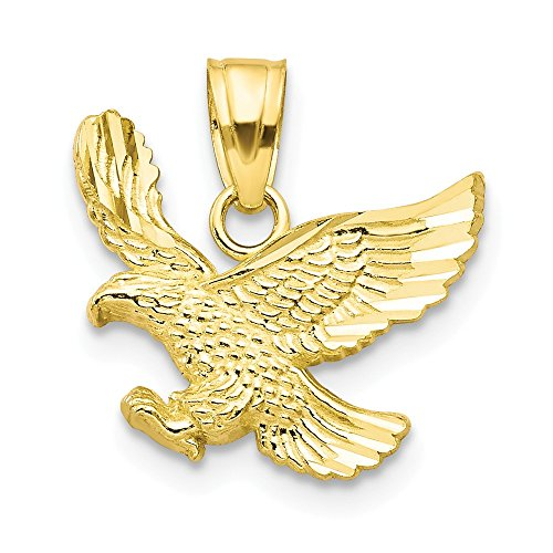(Diamond2Deal 10k Yellow Gold Eagle Charm and Pendant)