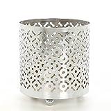 "Hosley 4.5"" High Geometric LED Pillar Candle or Jar Sleeve, Lantern. Ideal Gift. Weddings, Party, Spa, Aromatherapy, Candle Garden, Bulk Buy W9"