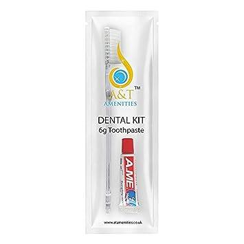 Kit dental Cepillo de dientes con pasta de dientes de 5 gr ...