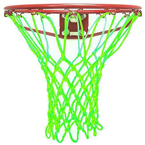 Findlighting Durable Heavy Duty Outdoor Basketball Net Glow in The Dark,Portable Nylon Sports Basketball Rim Hoop Net