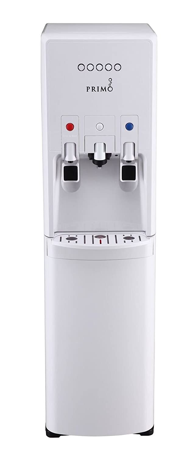 Primo hTrio Water Dispenser with Personal, Single Serve Coffee Brewer, compatible with K-Cups | Hot and Cold Water