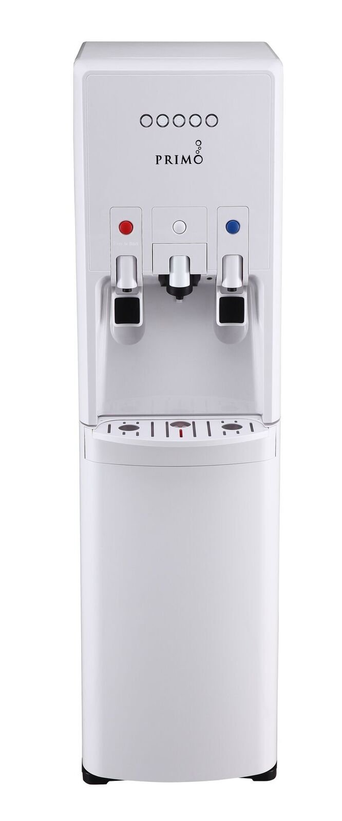 Primo hTRiO Bottom Loading Water Cooler with Single Serve Brewing - 2 Temperature Settings, Hot, Cold - K-Cup Compatible Water Dispenser - Supports 3 or 5 Gallon Water Jugs [White]