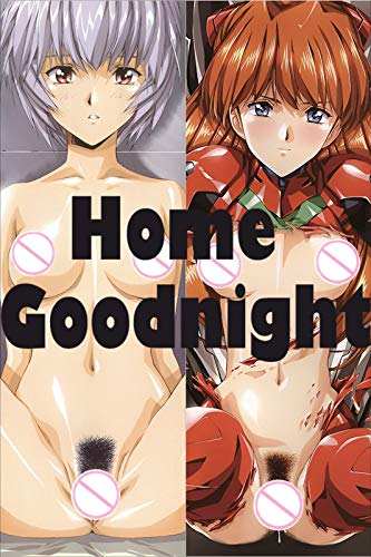 Home Goodnight Neon Genesis Evangelion - Rei Ayanami - Asuka Langley Soryu 150cm x 50cm(59in x 19.6in) 2 Way Tricot Pillowcases