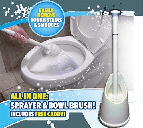 (Fheaven Sprinkler Brush,Toilet Brush,Most Sanitary Way to Clean Your Toilet Bowl Sprinkler Brush)