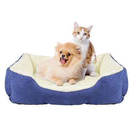 WLDOCA Cálido Suave Otoño Invierno Mascota Gato Litro para Cachorro Conejo Pequeñas Camas para Perros Nido
