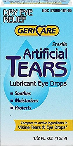 Artificial Tears Solution - Gericare Artificial Tears Lubricant Eye Drops, 15 mL Per Bottle (5 Pack)