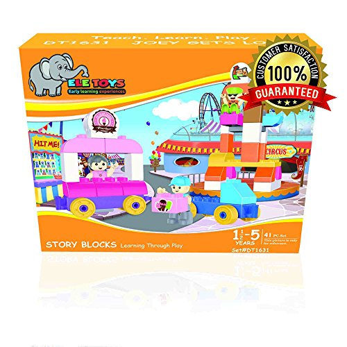 Ele Toys Duplo Compatible Kids Interlocking Story Block Building Set from Fun & Educational - 41 Pieces  Joey Gets Lost