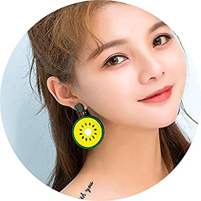DIDA Trendy Statement Creative Funny Lifelike Fruits Acrylic Earrings for Women//Girls