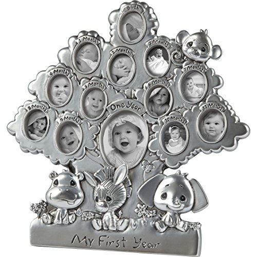 - Precious Moments Precious Paws Hippo, Zebra, Elephant, Monkey My First Year 12 Months Resin Photo Frame, 172416