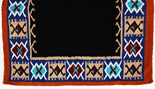 PRORIDER 34x36 Horse Wool Western Show Trail Saddle Blanket Pad Rug ()