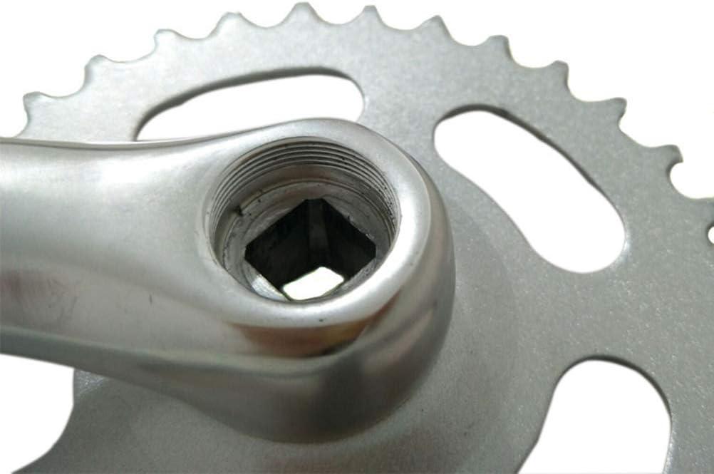 manivelle 170mm LIOOBO P/édalier 32 Dents pour v/élo de Montagne p/édalier Argent