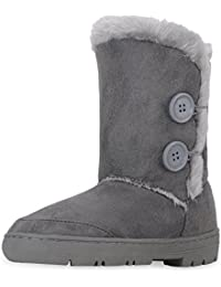 Womens Twin Button Fully Fur Lined Waterproof Winter Snow...