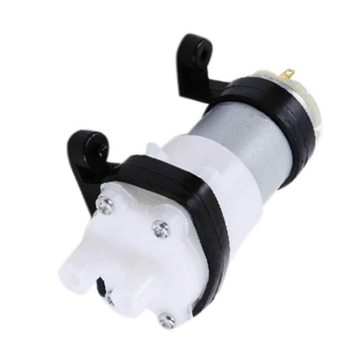 bianco e nero Pompa a diaframma DC6-12V Pompa acqua multifunzione 385 con staffa Pompa per acquario Motore per auto Scrub Mini pompa olio per cereali