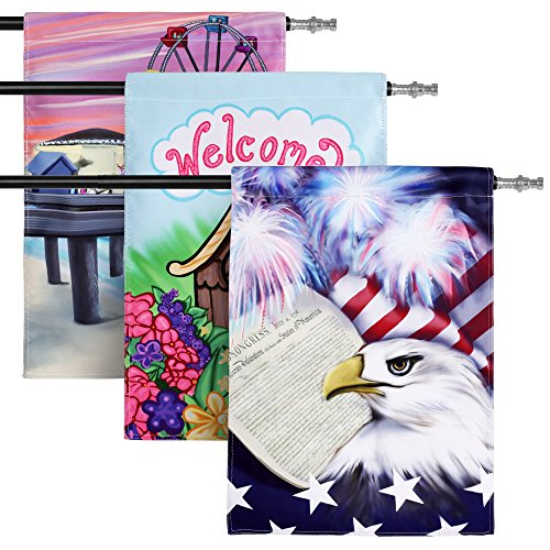 Summer Garden Flag Set 3 Pack Assortment Featuring Summer, P