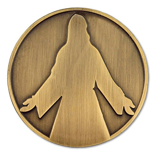 PinMart's Antique Bronze Jesus Christ Religious Lapel Pin