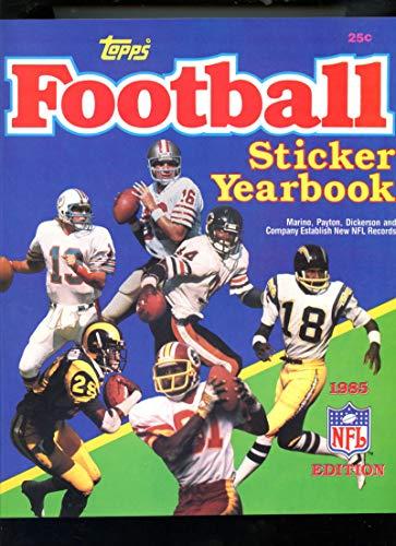 (1985 Topps Football Sticker Yearbook Album Book Booklet)