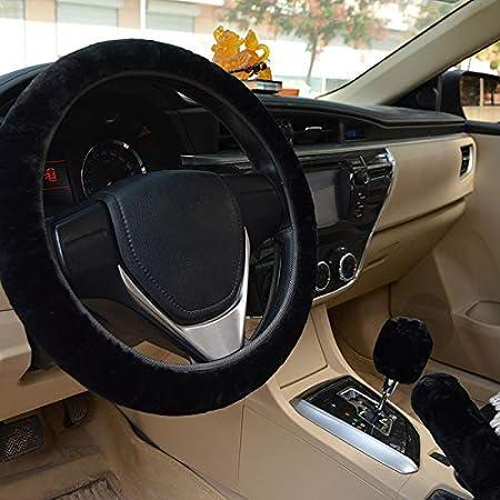 palanca de cambios y volante universales para freno de mano de peluche 1 Set 3 Pcs JDD Fundas de lana sint/ética para coche