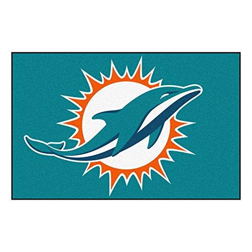 - FANMATS NFL Miami Dolphins Nylon Face Starter Rug