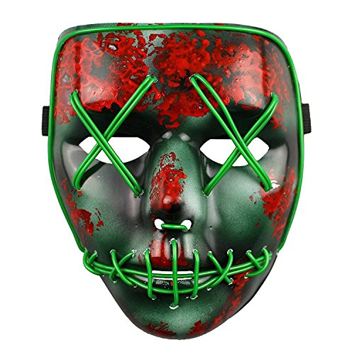 The Purge Election Year Light Up LED Halloween Mask - Universal Size