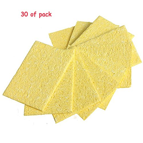 30Pcs Welding Soldering Iron Tip Replacement Sponges Cleaning