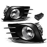 Scion tC 3rd Brake Lights - For Scion tC Pair of Bumper Driving Fog Lights + Bezel + Wiring Kit + Switch (Clear Lens)