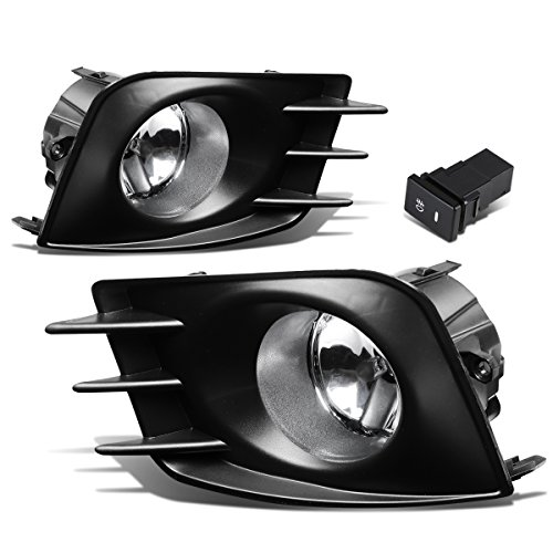 For Scion tC Pair of Bumper Driving Fog Lights + Bezel + Wiring Kit + Switch (Clear - Lights Tc Hid Scion