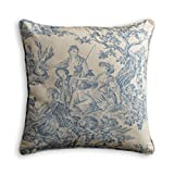 Maison d' Hermine The Miller 100% Cotton Blue Decorative Pillow Cover 20 Inch by 20 Inch