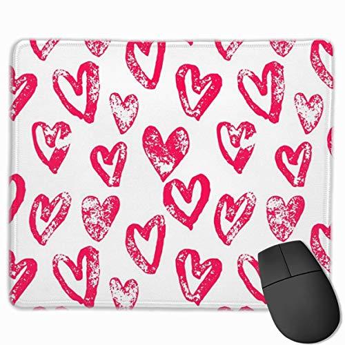 HENTIN Cinnamon Hearts Alfombrilla de raton Antideslizante de Goma para Mouse para computadoras de Escritorio, computadoras, PC y computadoras portat