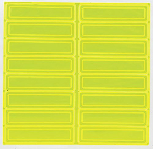 Fluorescent Yellow Green (RK Adhesive Vinyl Retro-Reflective Hard Hat/Helmet Sticker, 1
