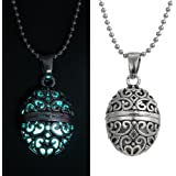 by lucky Steampunk Pretty Magic Oval Locket Fairy Glow In The Dark Pendant Necklace Gift
