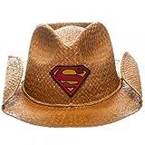 Superman Patch Logo Natural Straw Cowboy Hat