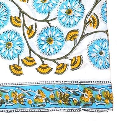 Tela de algodón con estampado indio de bloques hecha a mano, tela ...